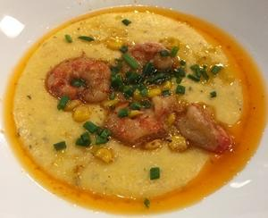 New Orleans Shrimp & Grits of Slappap en Garnale